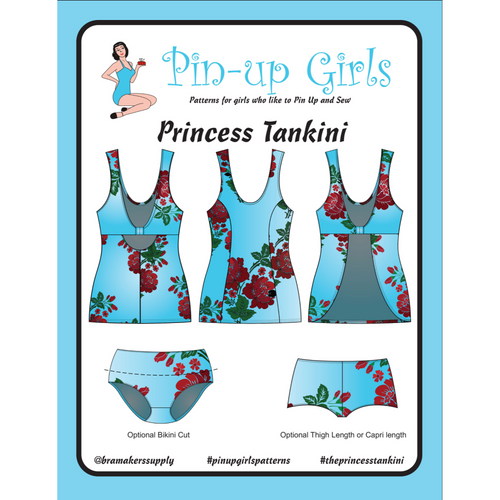 PRINCESS TANKINI SWIMSUIT - PAPER PATTERN