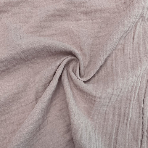 Organic Cotton Double Gauze - 1/2 Meter - Blush