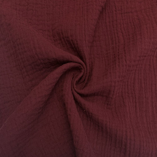 Organic Cotton Double Gauze - 1/2 Meter - Merlot