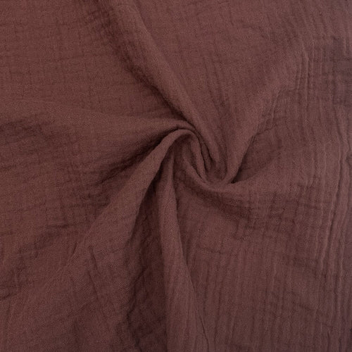 Organic Cotton Double Gauze - 1/2 Meter - Raisin