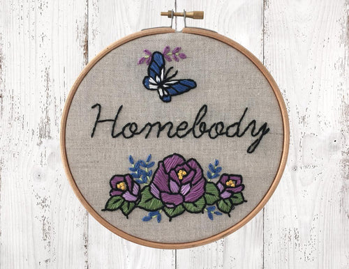 HOMEBODY - Complete DIY Embroidery Kit - Natural