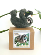 Load image into Gallery viewer, HANGING SLOTH NEEDLE FELTING DIY KIT