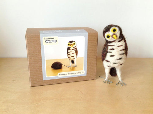 BURROWING OWL NEEDLE FELTING DIY KIT
