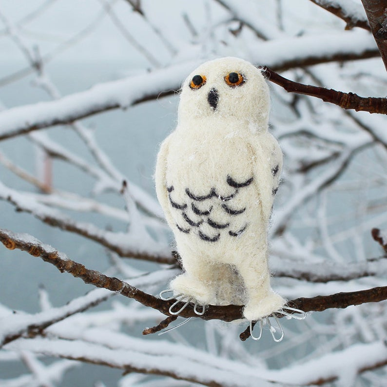 SNOWY OWL NEEDLE FELTING DIY KIT