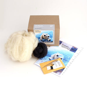 POLAR BEAR NEEDLE FELTING DIY KIT