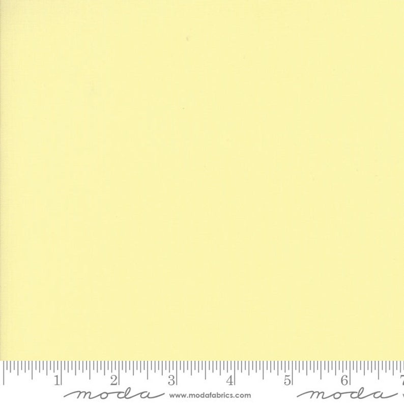 Bella Solids - 1/4 Meter - Soft Yellow