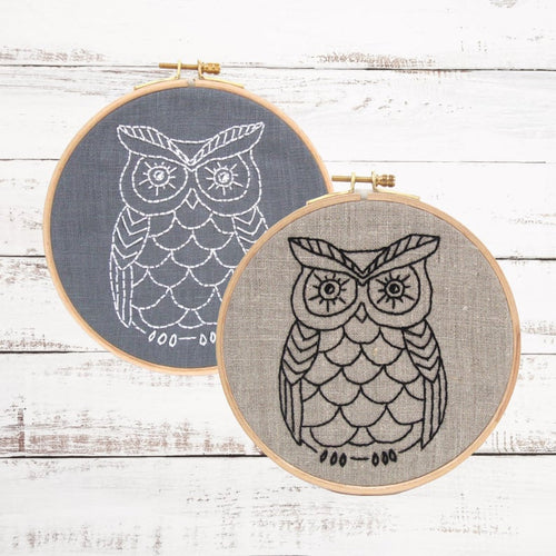 OWL - Complete DIY Embroidery Kit