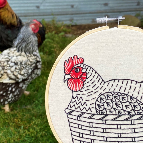 NEW! HENNY PENNY - COMPLETE EMBROIDERY KIT