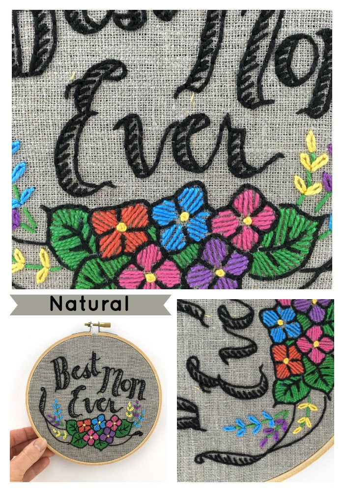 BEST MOM EVER - EMBROIDERY KIT