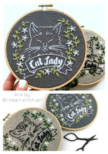 Load image into Gallery viewer, CAT LADY - EMBROIDERY KIT
