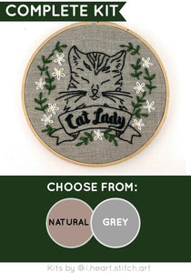 CAT LADY - EMBROIDERY KIT