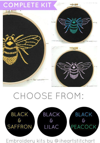 BEE - EMBROIDERY KIT - VARIOUS COLOURS
