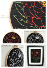 Load image into Gallery viewer, PEONY - EMBROIDERY KIT