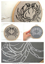 Load image into Gallery viewer, CRAB - EMBROIDERY KIT
