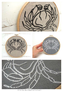 CRAB - EMBROIDERY KIT