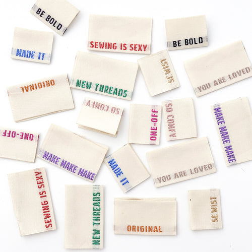 *** Limited Edition *** METALLIC SIDE SEAM LABELS - WOVEN LABELS 8 PACK