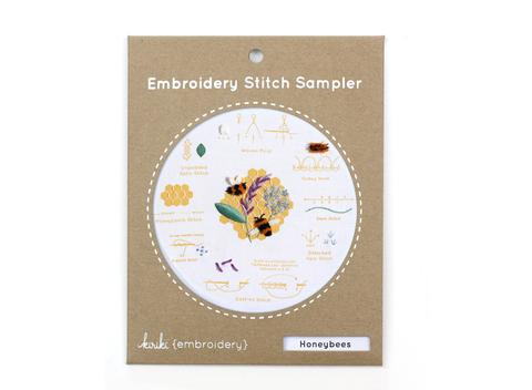 Honeybees - Embroidery Stitch Sampler