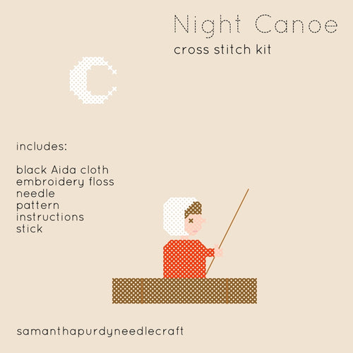NIGHT CANOE - DIY CROSS STITCH KIT