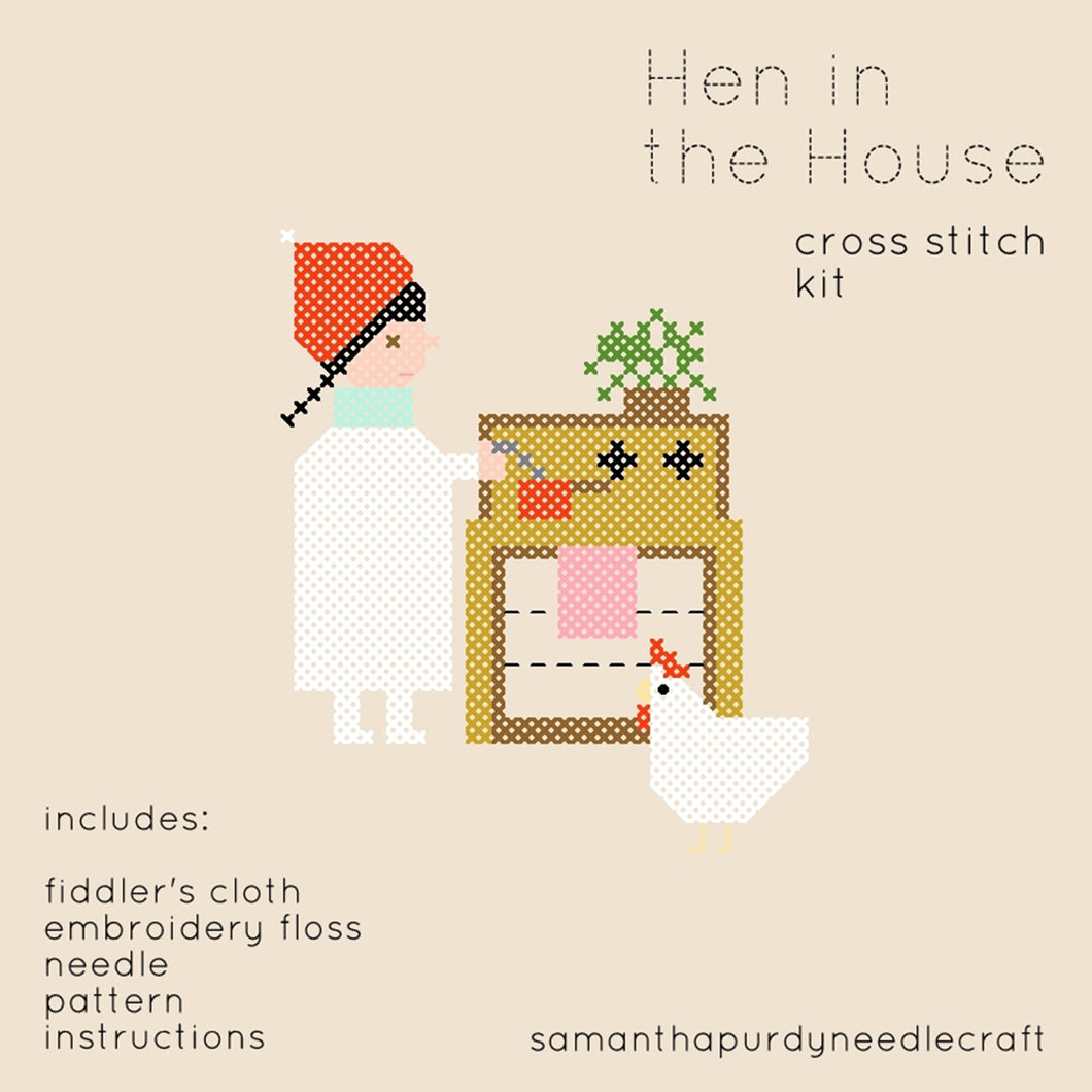 HEN IN THE HOUSE - DIY CROSS STITCH KIT