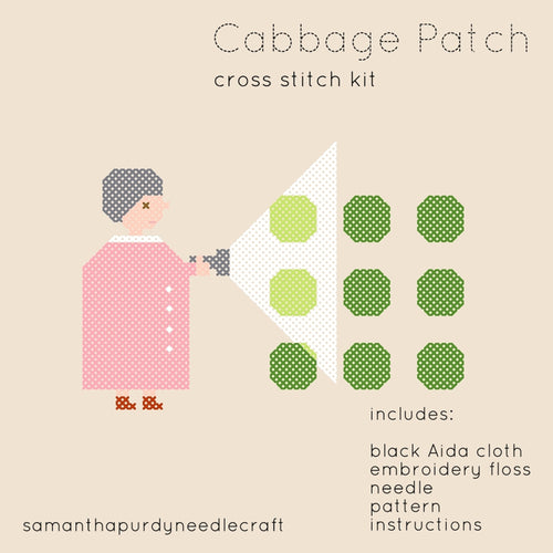CABBAGE PATCH - DIY CROSS STITCH KIT