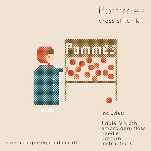 POMMES - DIY CROSS STITCH KIT