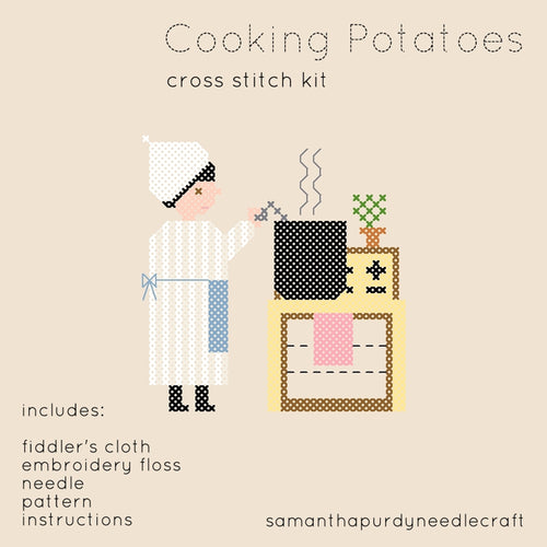 COOKING POTATOES - DIY CROSS STITCH KIT