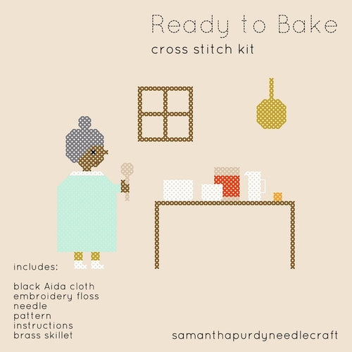 READY TO BAKE - DIY CROSS STITCH KIT