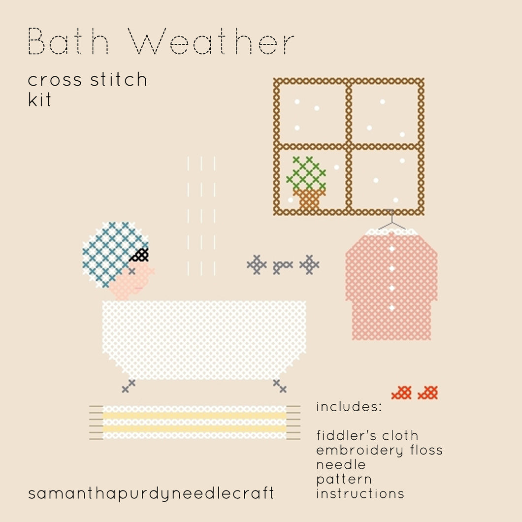 BATH WEATHER - DIY CROSS STITCH KIT