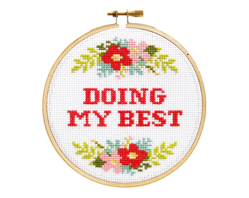 DOING MY BEST - DIY Cross Stitch Kit