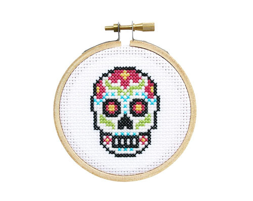 MINI SUGAR SKULLS - DIY Cross Stitch Kit