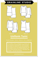 Load image into Gallery viewer, THE UNIFORM TUNIC - PAPER PATTERN