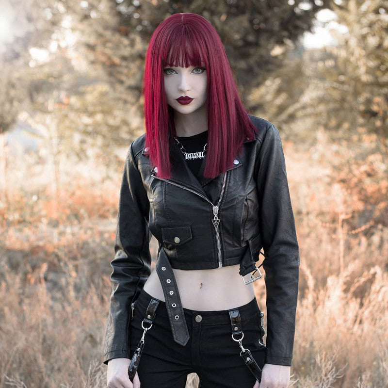 Review from Wine red clavicle wig DB4074