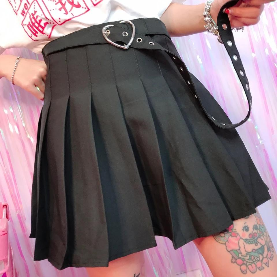 Belted Pleated Skirt DB2079