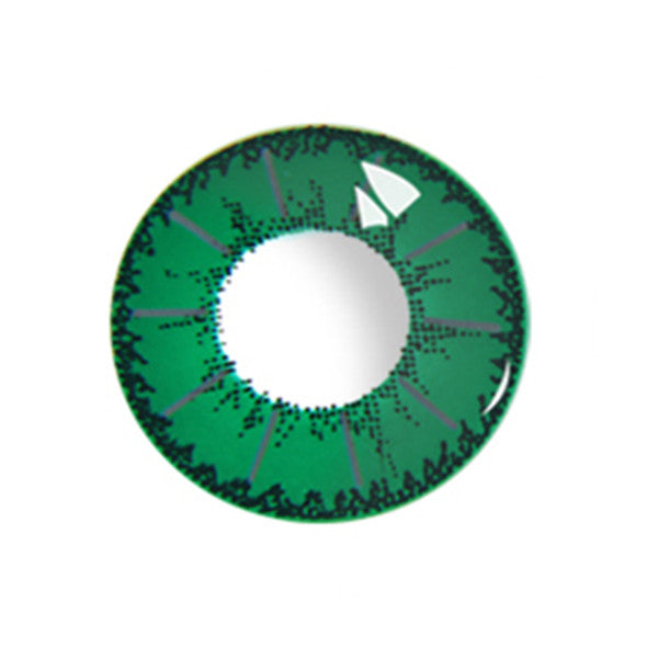 Little Devil Green contact lens (two pieces) DE1003
