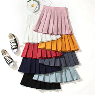 All-match solid color sports pleated skirt DB5955