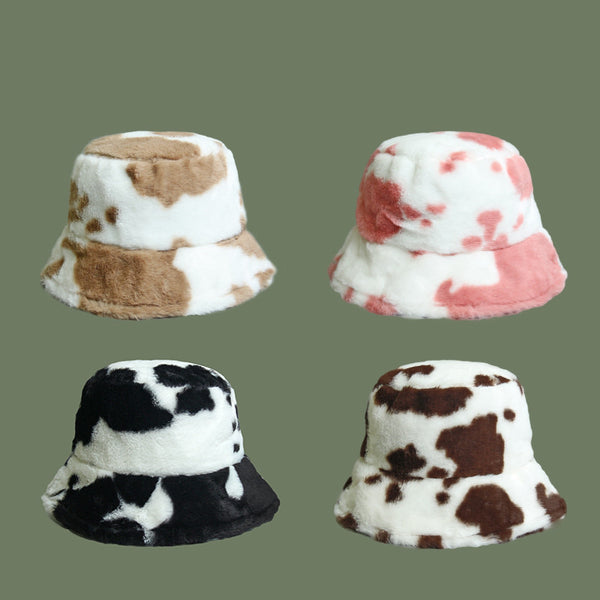 Cute cow color matching fisherman hat DB6491
