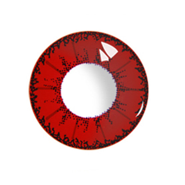 Little Devil Red contact lens (two pieces) DE1001