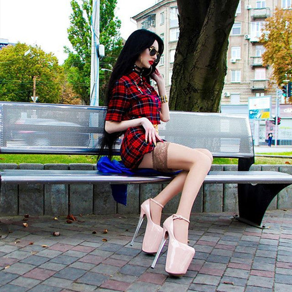 Red plaid suit skirt DB3047