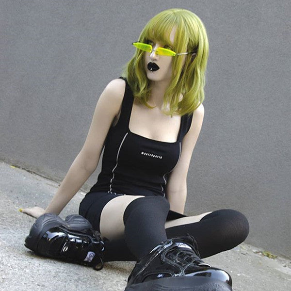 Fluorescent green short wig DB4219