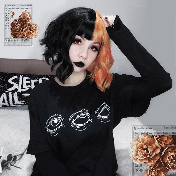 Lolita black + orange wig DB4751