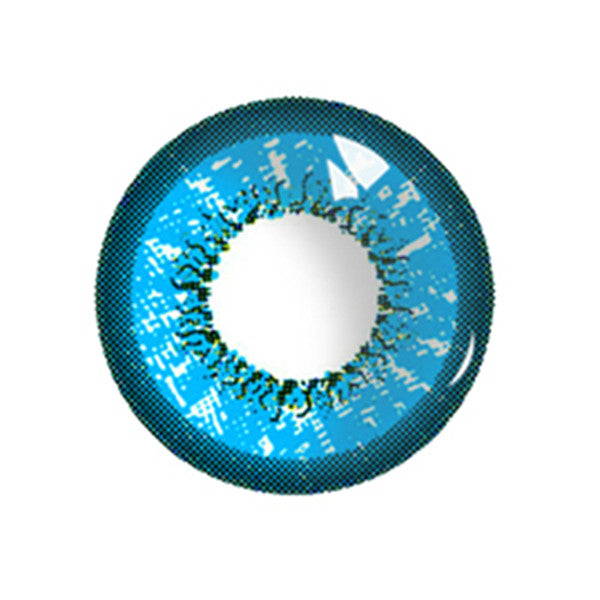 Leaf blue contact lens (two pieces) DE10097