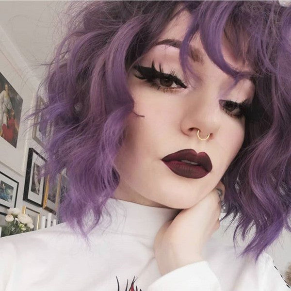 Review from DARK PURPLE GRADIENT SHORT WIG DB4223