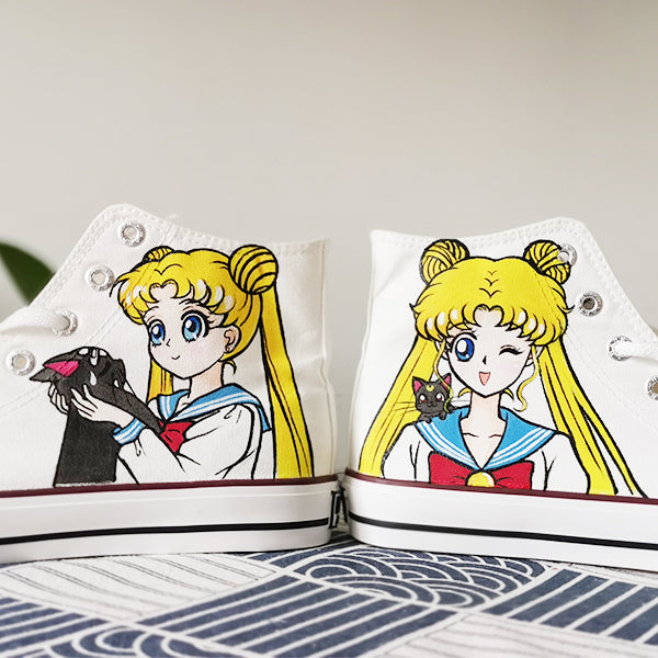 Sailor Moon hand-painted shoes DB4921