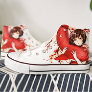 Big Fish & Begonia hand-painted shoes DB4894
