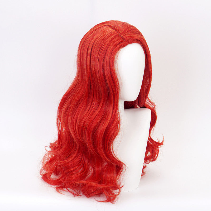 cosplay Mera Red Long Curly Hair Wig DB5278