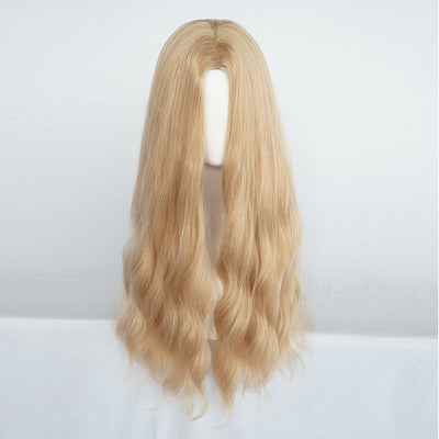 Golden big wave long curly hair  wig DB4109