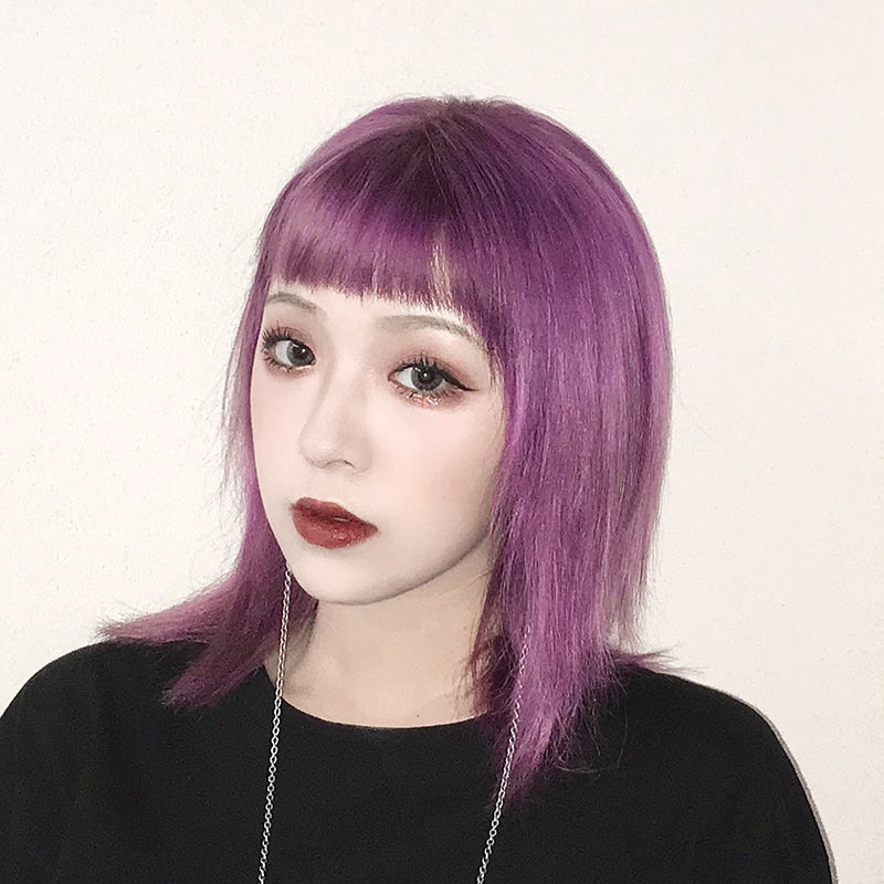 Purple medium long wig DB3106