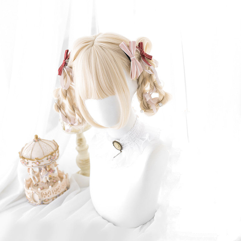 Lolita Rice Golden Curly Wig DB4785