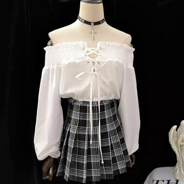 Harajuku lace-up top DB2047