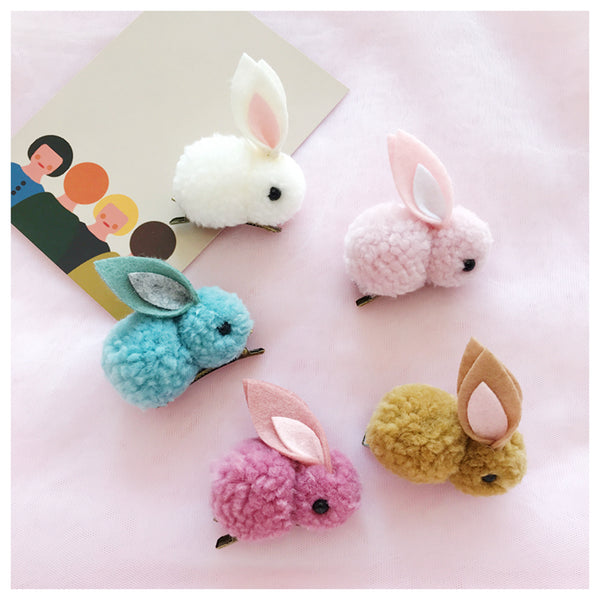 Plush doll bunny hairpin DB4884